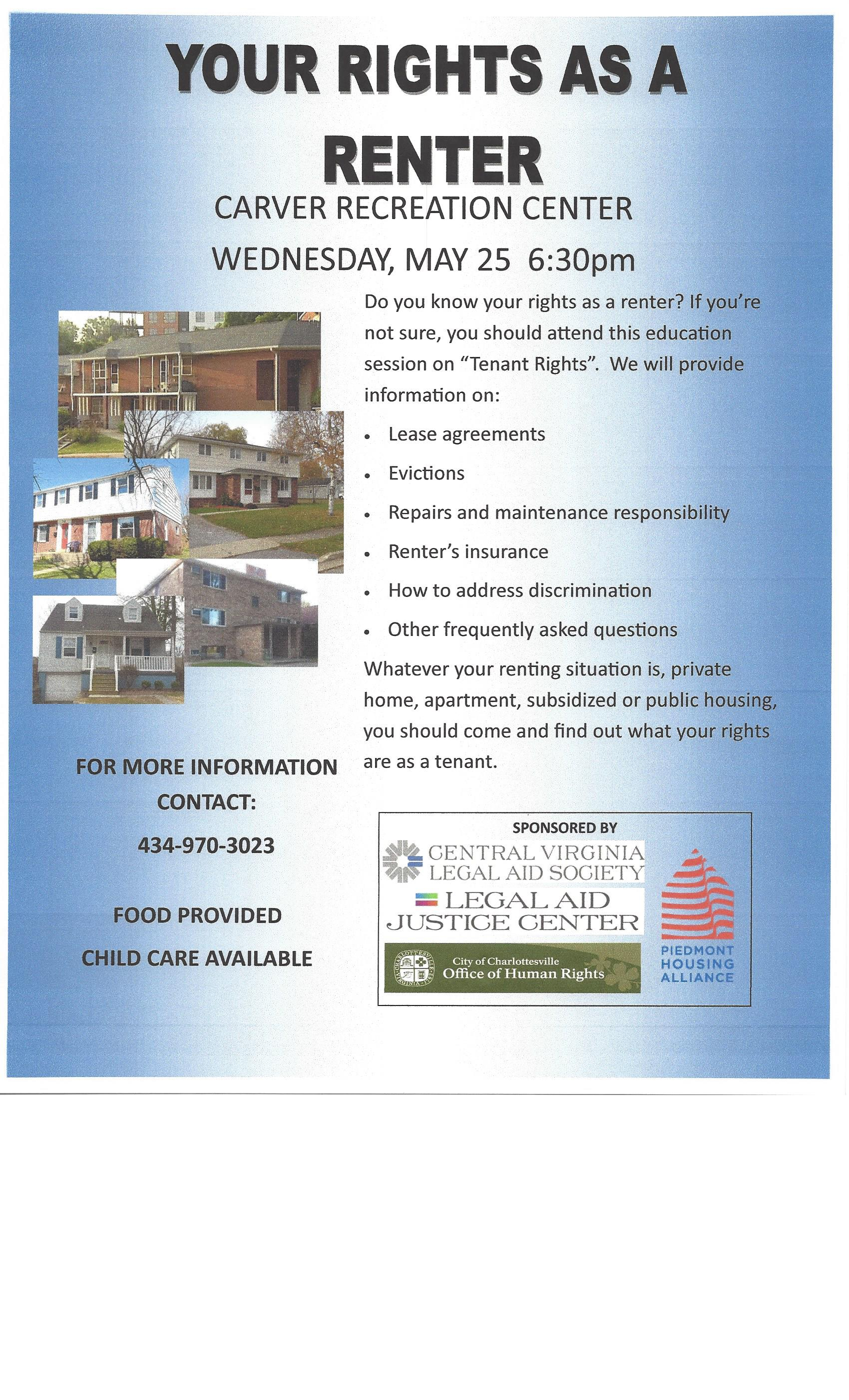 Tenants Rights Workshop Flyer